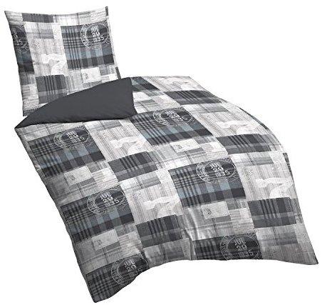 traumhafte bettw sche aus biber grau 135x200 von biberna. Black Bedroom Furniture Sets. Home Design Ideas
