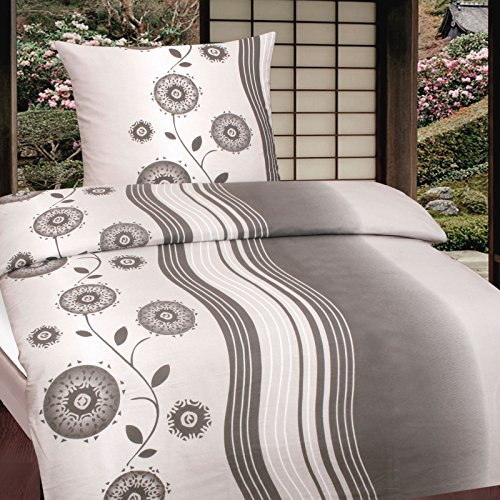 traumhafte bettw sche aus biber grau 135x200 von casa. Black Bedroom Furniture Sets. Home Design Ideas