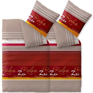 Hübsche Bettwäsche aus Biber - grau 135x200 von CelinaTex