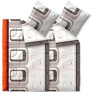 Traumhafte Bettwäsche aus Biber - grau 135x200 von CelinaTex