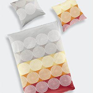 Kuschelige Bettwäsche aus Biber - grau 135x200 von Go² Bed