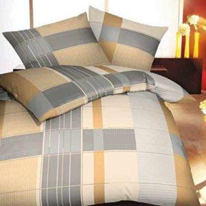 Kuschelige Bettwäsche aus Biber - grau 135x200 von Kaeppel