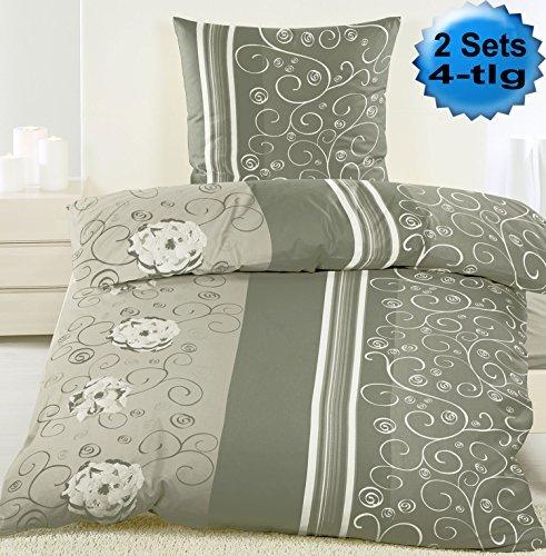 h bsche bettw sche aus biber grau 135x200 von kh. Black Bedroom Furniture Sets. Home Design Ideas