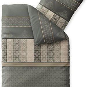 Schöne Bettwäsche aus Biber - grau 155x220 von CelinaTex