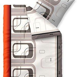 Traumhafte Bettwäsche aus Biber - grau 155x220 von CelinaTex