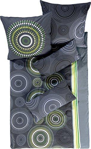 Hübsche Bettwäsche aus Biber - grau 155x220 von Erwin Müller