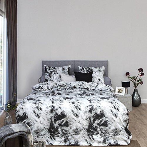 sch ne bettw sche aus biber grau 155x220 von hnl bettw sche. Black Bedroom Furniture Sets. Home Design Ideas