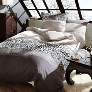 Traumhafte Bettwäsche aus Biber - grau 155x220 von Kaeppel