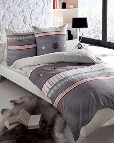 sch ne bettw sche aus biber grau 155x220 von kaeppel bettw sche. Black Bedroom Furniture Sets. Home Design Ideas