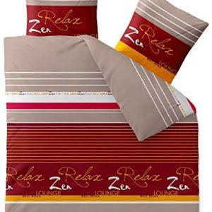 Schöne Bettwäsche aus Biber - grau 200x200 von CelinaTex