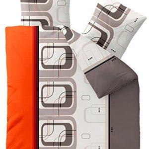 Kuschelige Bettwäsche aus Biber - grau 200x220 von CelinaTex