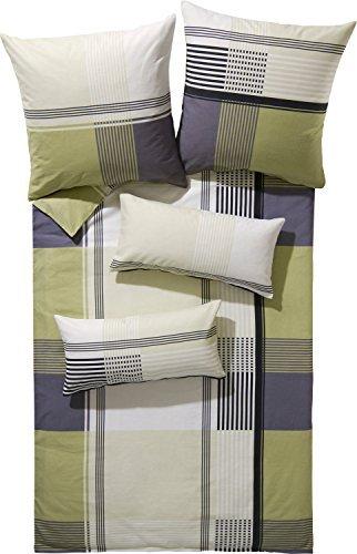 h bsche bettw sche aus biber gr n 135x200 von erwin. Black Bedroom Furniture Sets. Home Design Ideas