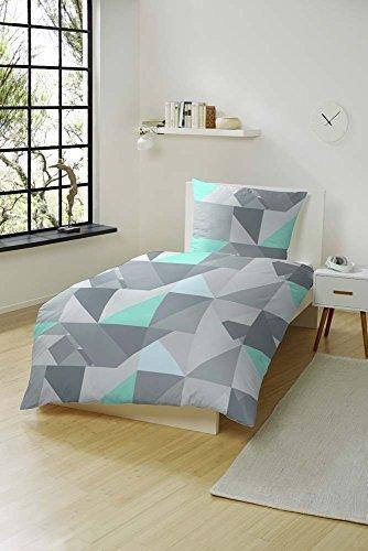 sch ne bettw sche aus biber gr n 135x200 von hahn. Black Bedroom Furniture Sets. Home Design Ideas