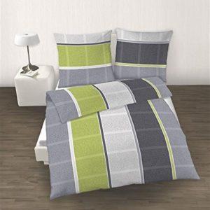 Traumhafte Bettwäsche aus Biber - grün 135x200 von Ido