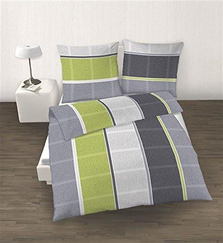 traumhafte bettw sche aus biber gr n 135x200 von ido bettw sche. Black Bedroom Furniture Sets. Home Design Ideas