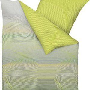 Kuschelige Bettwäsche aus Biber - grün 135x200 von Kaeppel