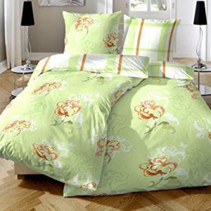 Schöne Bettwäsche aus Biber - grün 135x200 von Primera