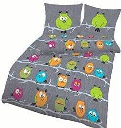 Schöne Bettwäsche aus Biber - grün 135x200 von Soma