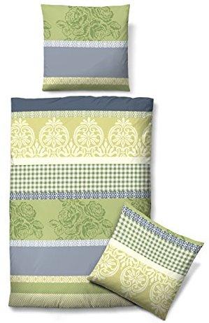 kuschelige bettw sche aus biber gr n 155x220 von biberna bettw sche. Black Bedroom Furniture Sets. Home Design Ideas