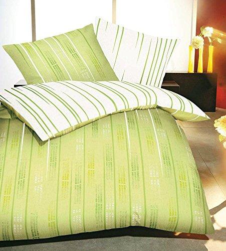 traumhafte bettw sche aus biber gr n 155x220 von kaeppel bettw sche. Black Bedroom Furniture Sets. Home Design Ideas