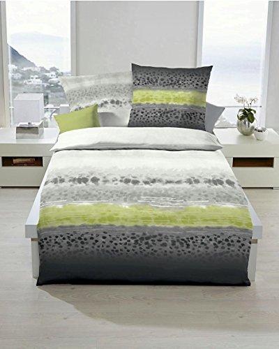 traumhafte bettw sche aus biber gr n 155x220 von kaeppel. Black Bedroom Furniture Sets. Home Design Ideas