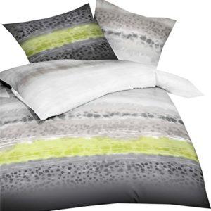 Traumhafte Bettwäsche aus Biber - grün 155x220 von Kaeppel