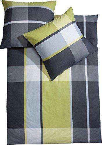 traumhafte bettw sche aus biber gr n 200x220 von erwin. Black Bedroom Furniture Sets. Home Design Ideas