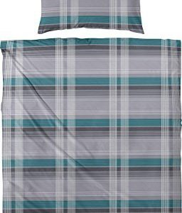 Kuschelige Bettwäsche aus Biber - petrol 135x200 von Primera