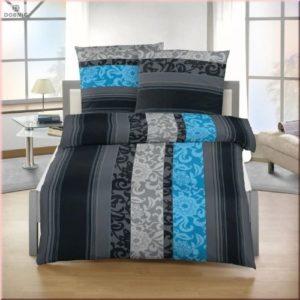 Traumhafte Bettwäsche aus Biber - petrol 135x200 von Soma