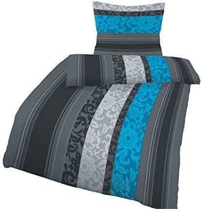 Kuschelige Bettwäsche aus Biber - petrol 155x220 von soma