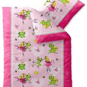 Traumhafte Bettwäsche aus Biber - Prinzessin rosa 135x200 von CelinaTex