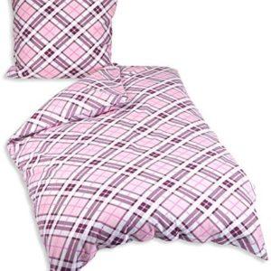 Kuschelige Bettwäsche aus Biber - rosa 135x200 von Genieße den Schlaf