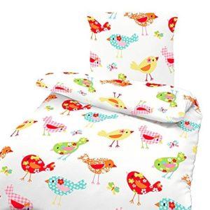 Hübsche Bettwäsche aus Biber - rosa 135x200 von Ido