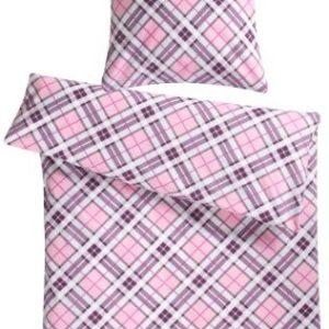 Kuschelige Bettwäsche aus Biber - rosa 220x240 von Genieße den Schlaf