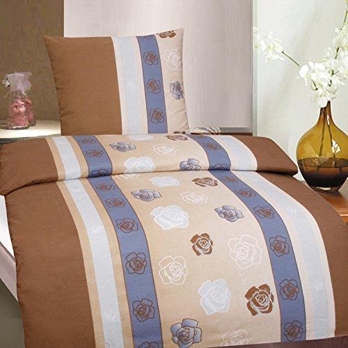 traumhafte bettw sche aus biber rosen braun 135x200 von. Black Bedroom Furniture Sets. Home Design Ideas