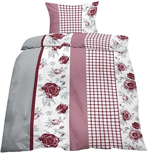 h bsche bettw sche aus biber rosen rosa 135x200 von home impression bettw sche. Black Bedroom Furniture Sets. Home Design Ideas