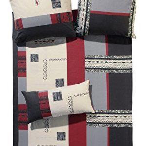 Kuschelige Bettwäsche aus Biber - rot 135x200 von Erwin Müller