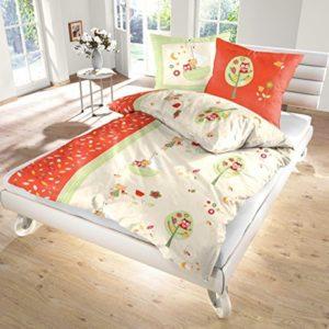 Traumhafte Bettwäsche aus Biber - rot 135x200 von Ido