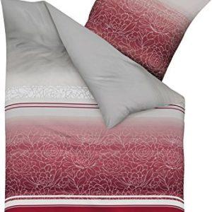 Kuschelige Bettwäsche aus Biber - rot 135x200 von Kaeppel