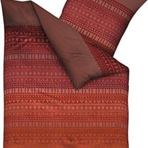 Traumhafte Bettwäsche aus Biber - rot 135x200 von Kaeppel