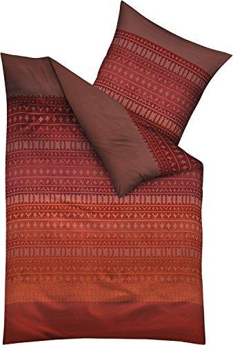 traumhafte bettw sche aus biber rot 135x200 von kaeppel. Black Bedroom Furniture Sets. Home Design Ideas