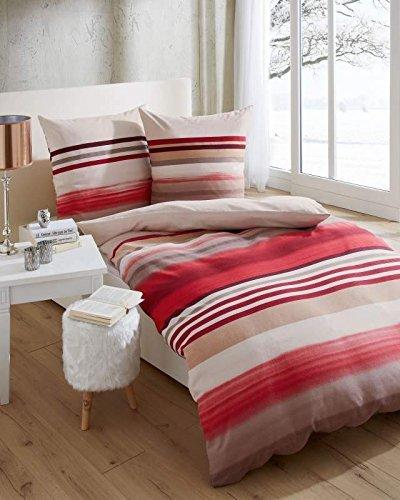 sch ne bettw sche aus biber rot 135x200 von kaeppel bettw sche. Black Bedroom Furniture Sets. Home Design Ideas
