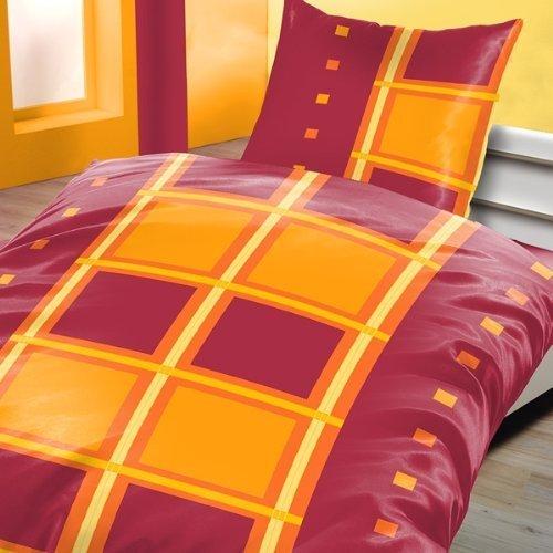 sch ne bettw sche aus biber rot 135x200 von schlummerland bettw sche. Black Bedroom Furniture Sets. Home Design Ideas