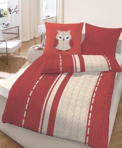 sch ne bettw sche aus biber rot 155x220 von ido. Black Bedroom Furniture Sets. Home Design Ideas