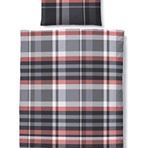 Hübsche Bettwäsche aus Biber - schwarz 135x200 von Biberna