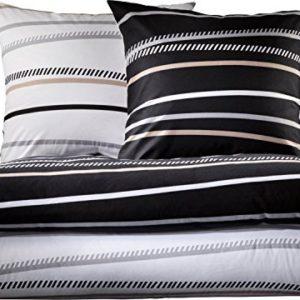 Schöne Bettwäsche aus Biber - schwarz 135x200 von Erwin Müller