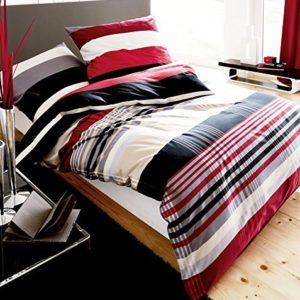 Traumhafte Bettwäsche aus Biber - schwarz 135x200 von Kaeppel
