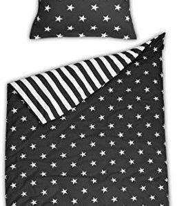 Traumhafte Bettwäsche aus Biber - Sterne 135x200 von Schiesser