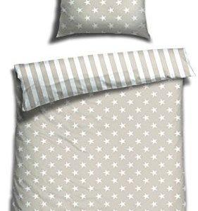 Hübsche Bettwäsche aus Biber - Sterne 155x220 von Schiesser