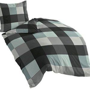 Schöne Bettwäsche aus Biber - türkis 135x200 von Bierbaum